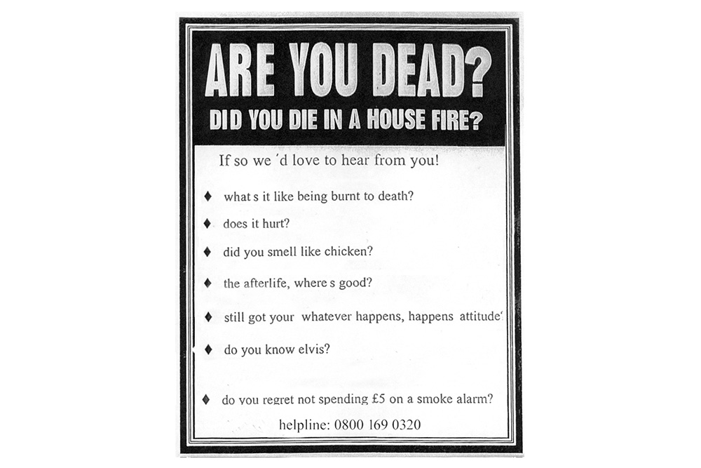 Lothian Fire Brigade print advertisement