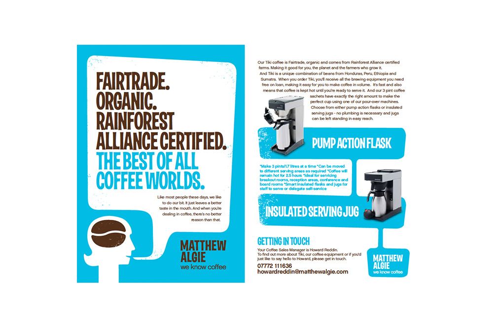 Matthew Algie brand identity advertisement