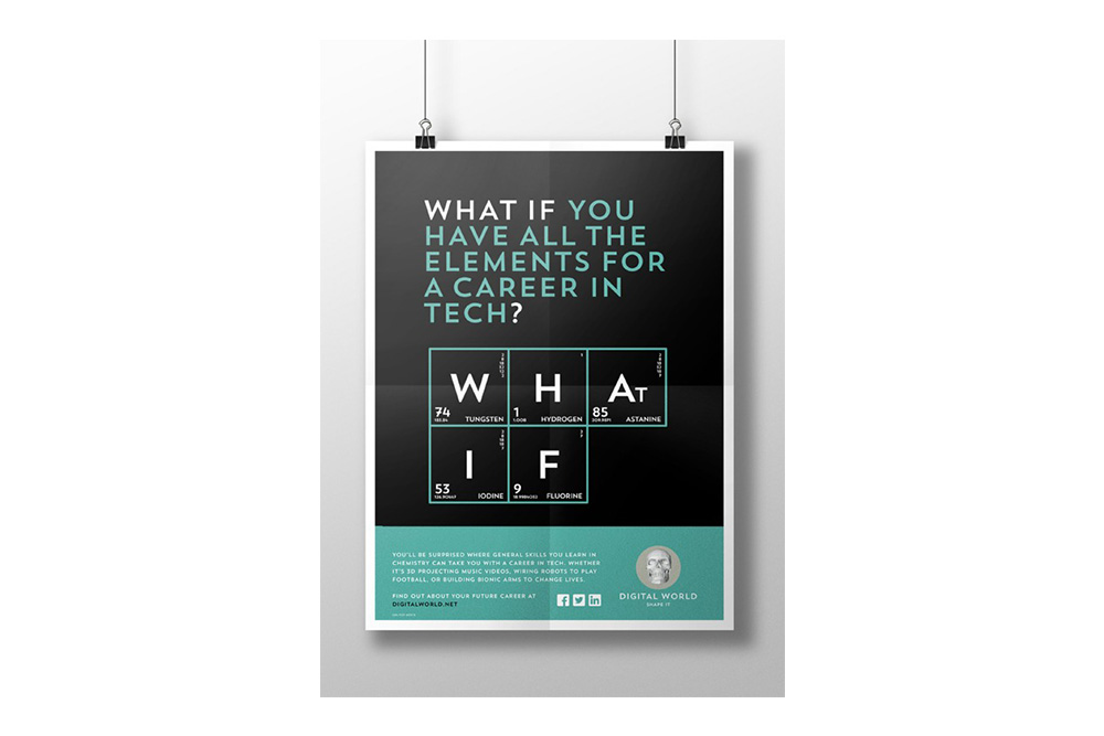 Digital World brand identity poster 1