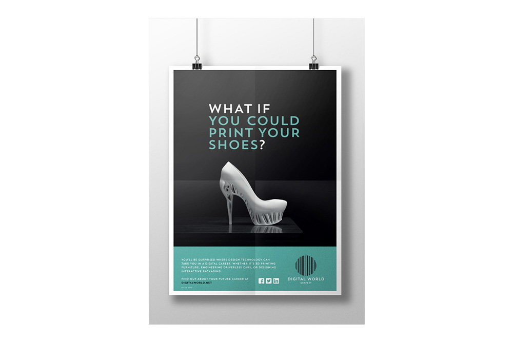 Digital World brand identity poster 2