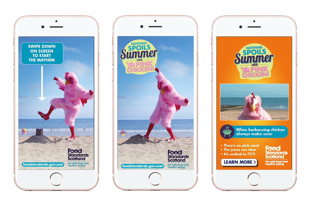 Food Standard Scotland Pink Chicken campaign app