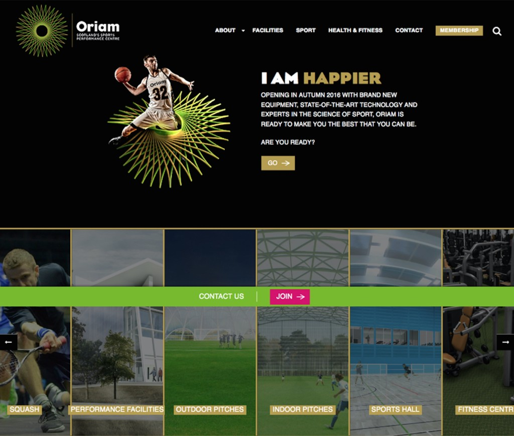 Oriam Website