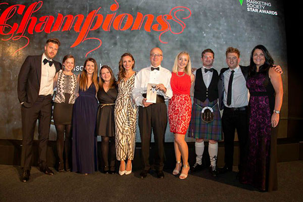 The Union is named Agency of the Year 2015 at the Marketing Star Awards in Glasgow.