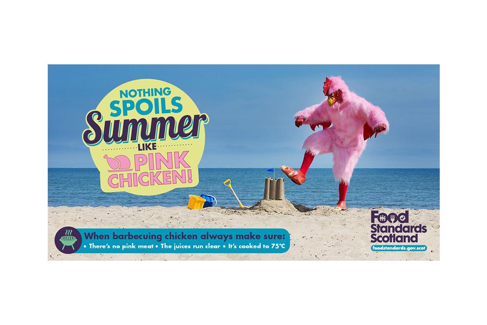 Food Standard Scotland Pink Chicken campaign