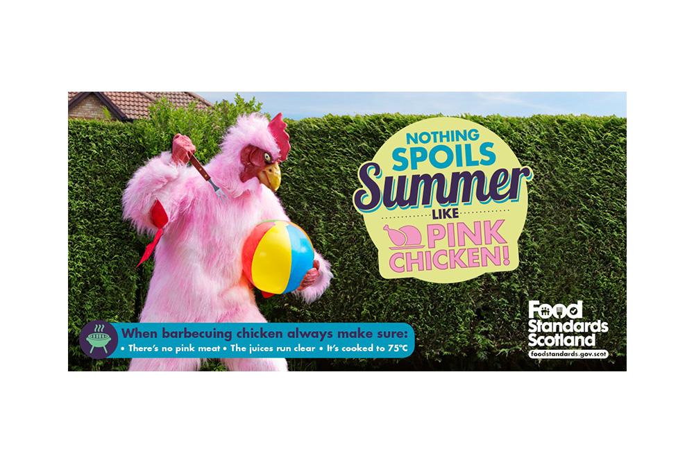 Food Standard Scotland Pink Chicken campaign 2