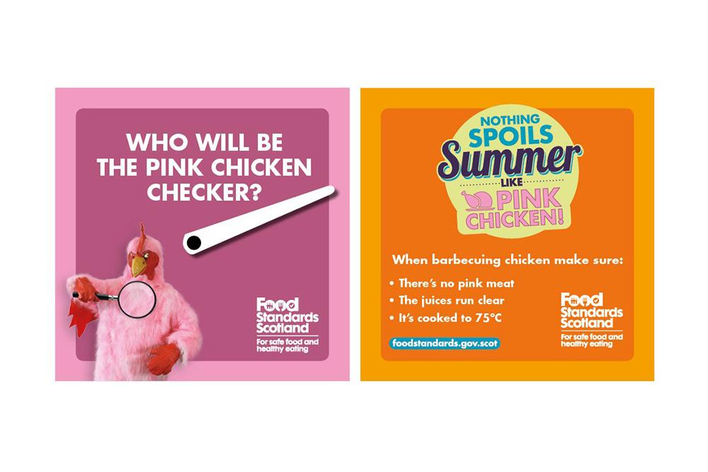 Food Standard Scotland Pink Chicken campaign online ads