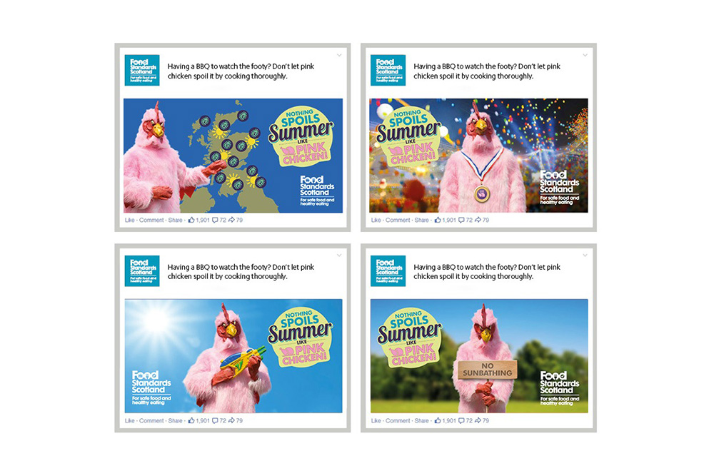 Food Standard Scotland Pink Chicken campaign social ads