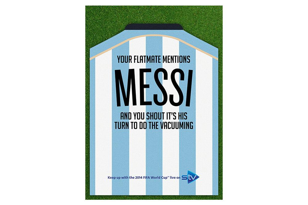 STV World Cup campaign Messi