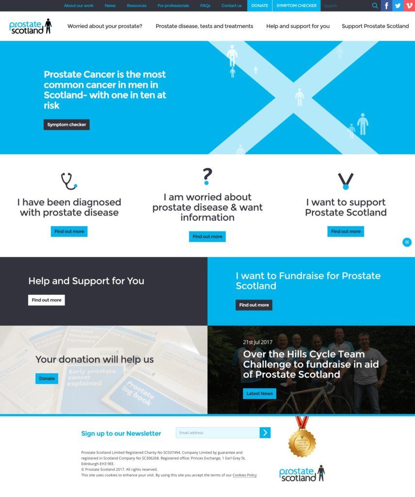 Prostate Scotland website