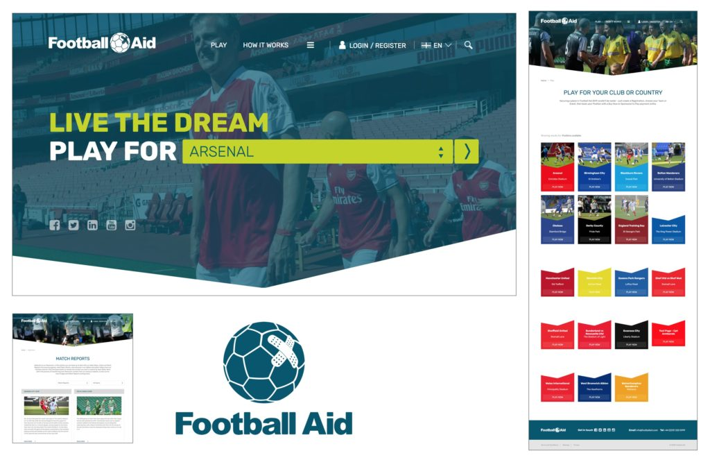 Football Aid website by Union Digital