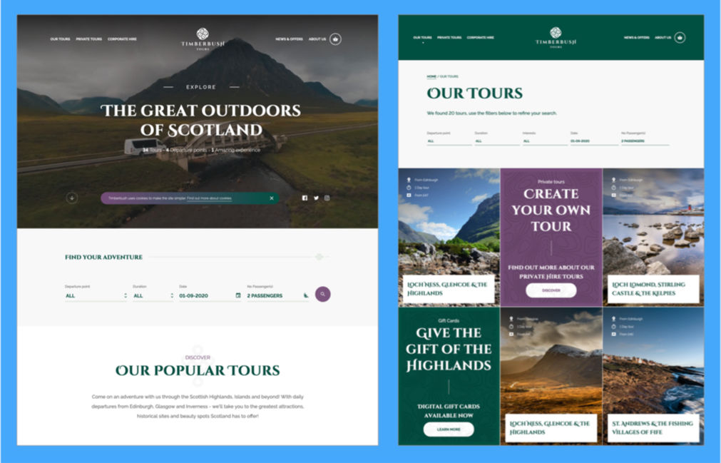 Timberbush Tours site
